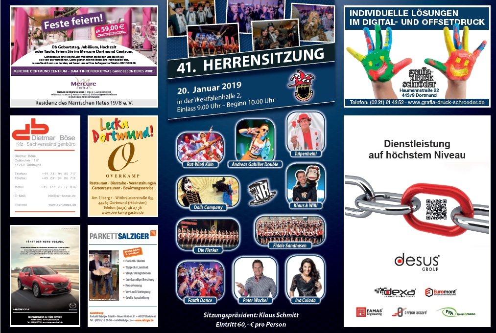 Tickets Herrensitzung